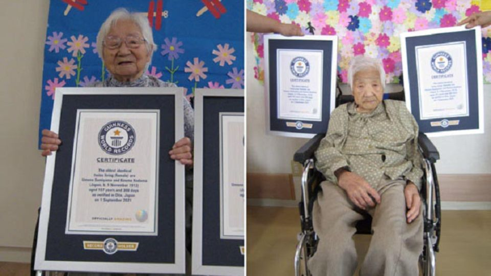 Sisters from Japan become the oldest twins in the world