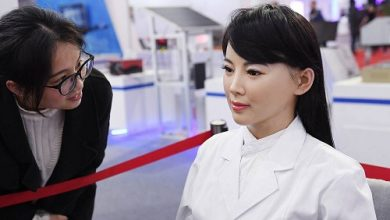 The look of a humanoid robot made a man change his mind